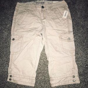 Cropped khakis